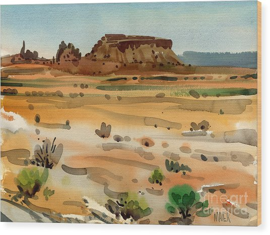 Behind Shiprock Wood Print by Donald Maier