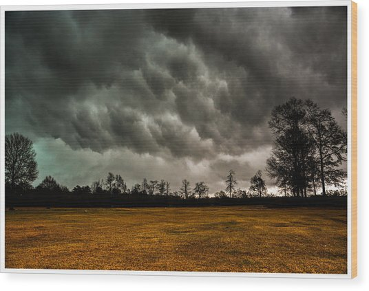 Behind The Tornado Wood Print