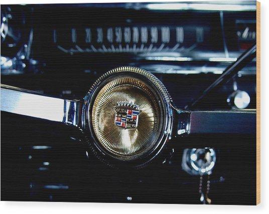 Behind The Wheel Wood Print