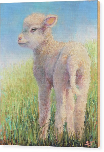 Behold The Lamb Wood Print