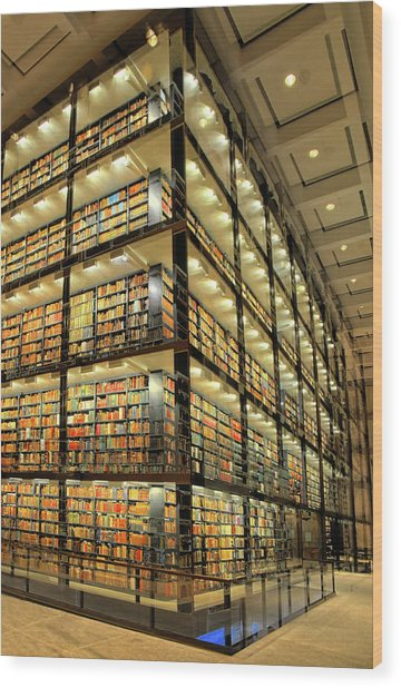 Beinecke Library At Yale University Wood Print