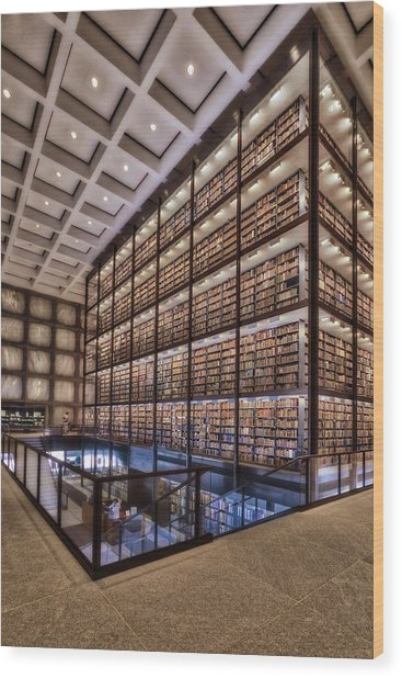 Beinecke Rare Book And Manuscript Library Wood Print