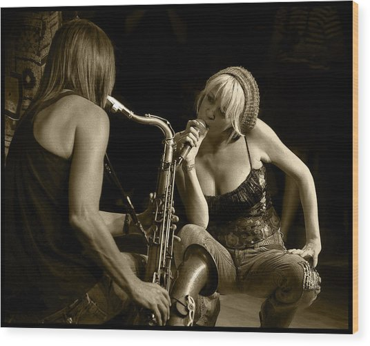 Bekka And Deanne Wood Print
