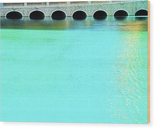 Belaggio Bridge Wood Print