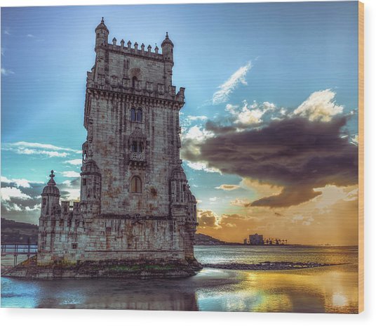 Belem Tower II Wood Print