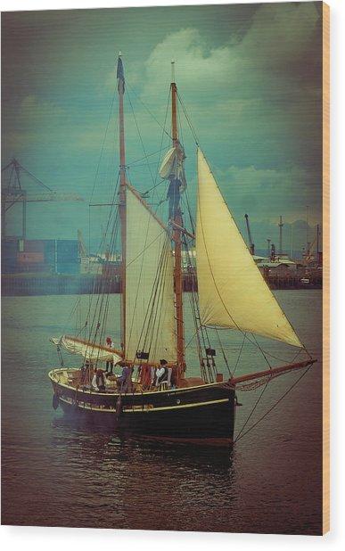 Belfast Tall Ships Wood Print