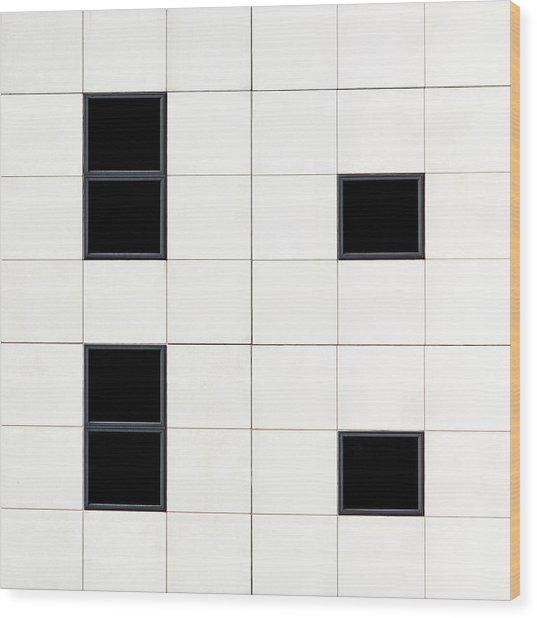 Belfast Windows 5 Wood Print