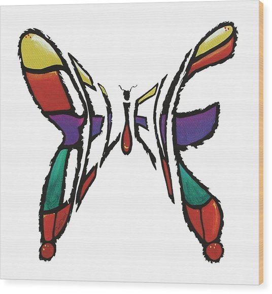 Believe-butterfly Wood Print