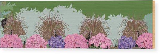 Belknap Mill Flowers Wood Print by Marian Federspiel