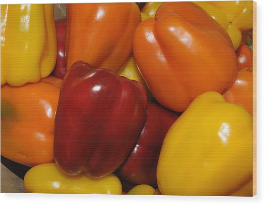 Bell Peppers 2 Wood Print