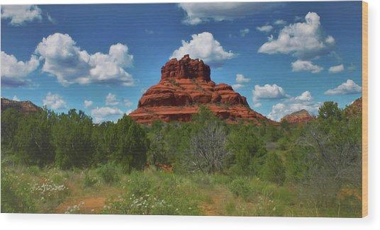 Bell Rock In Sedona Wood Print