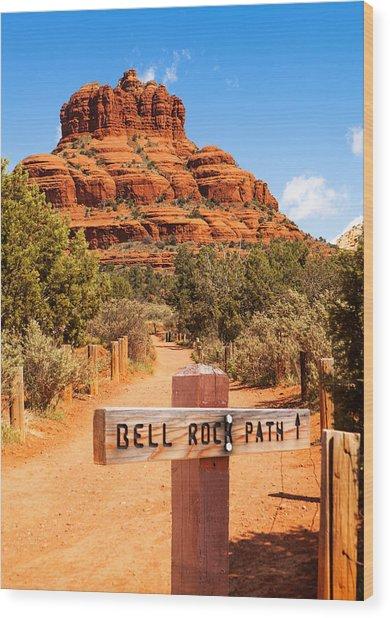 Bell Rock Path In Sedona Arizona Wood Print by Susan Schmitz