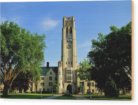 Bell Tower At The University Of Toledo Wood Print