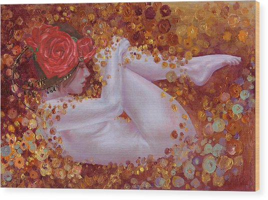 Bella Rose Wood Print