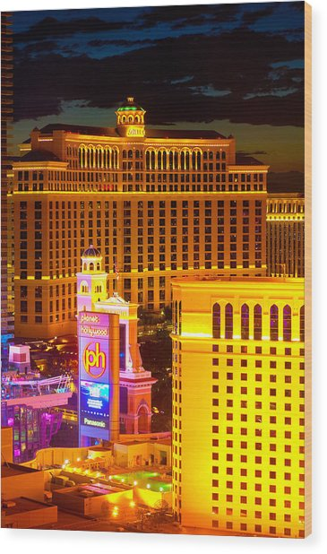 Bellagio  Planet Hollywood  Wood Print by James Marvin Phelps