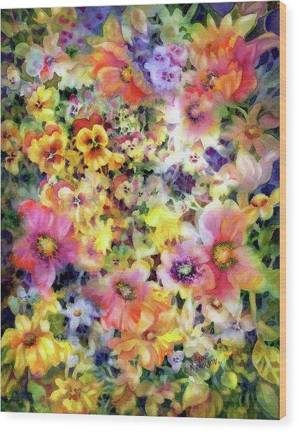 Belle Fleurs I Wood Print