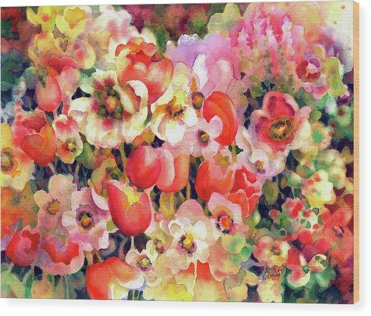 Belle Fleurs II Wood Print