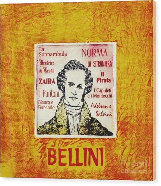 Bellini Portrait Wood Print by Paul Helm
