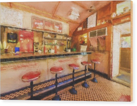 Bellows Falls Diner Wood Print