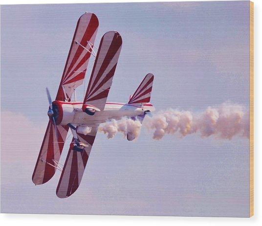 Belly Of A Biplane Wood Print