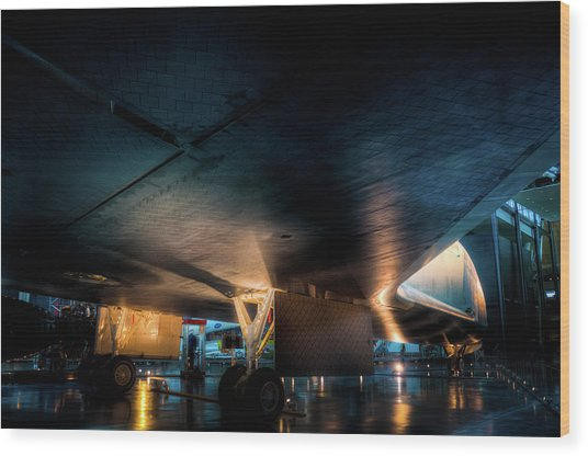 Belly Of The Shuttle Wood Print