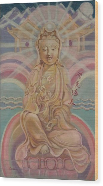Beloved Quan Yin Wood Print