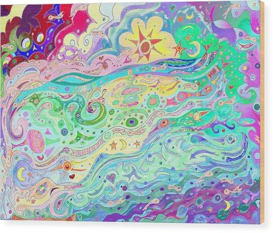 Beltaine Seashore Dreaming Wood Print