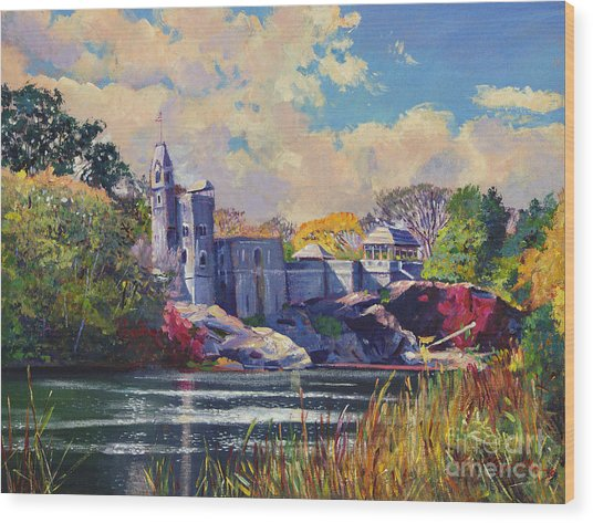 Belvedere Castle Central Park Wood Print