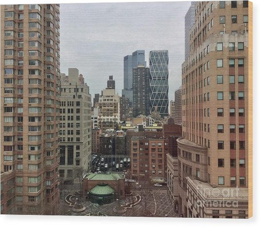 Belvedere Hotel New York City  Room With A View Wood Print