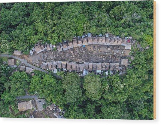 Wood Print featuring the photograph Bena Tribal Village - Flores, Indonesia by Pradeep Raja PRINTS