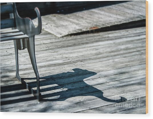 Bench Shadow Wood Print