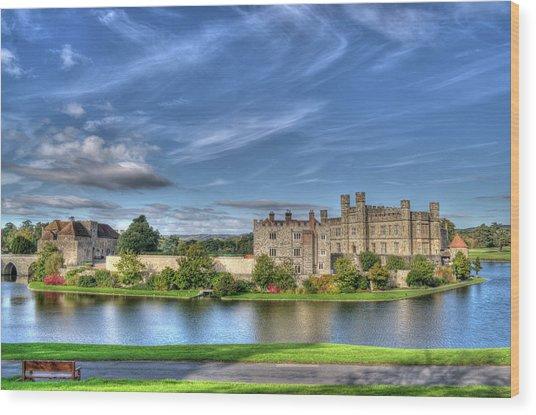 Bench View Of Leeds Castle Wood Print