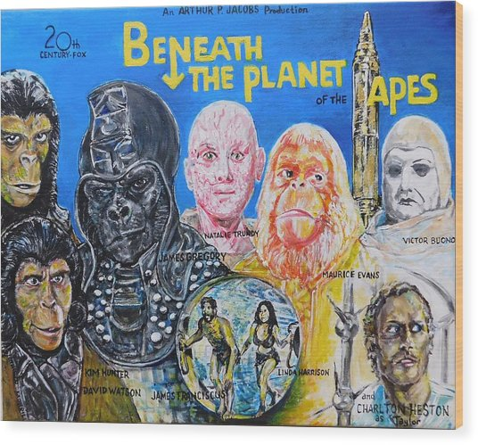 Beneath The Planet Of The Apes - 1970 Lobby Card That Never Was Wood Print