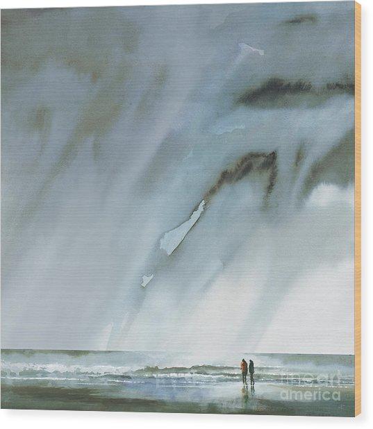 Beneath Turbulent Skies Wood Print