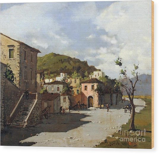 Provincia Di Benevento-italy Small Town The Road Home Wood Print