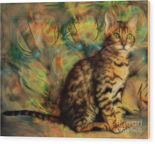 Bengal Kitten Wood Print