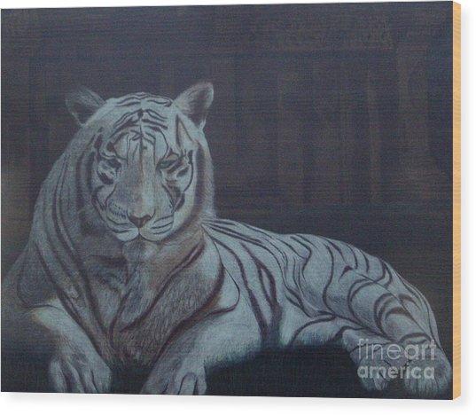 Bengala Tiger Wood Print