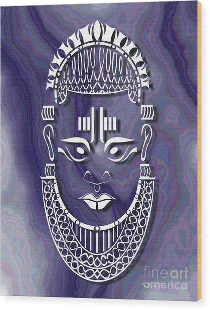 Benin Queen Mother Wood Print