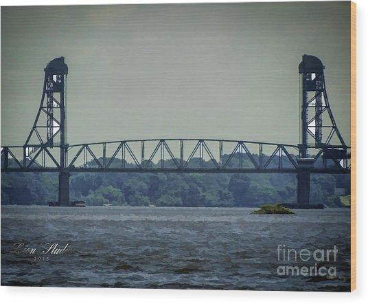 Benjamin Harrison Memorial Draw Bridge Wood Print