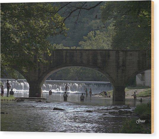Bennett Springs Bridge Wood Print
