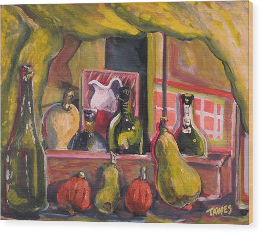 Before And After Dinner Wood Print by Dennis Tawes