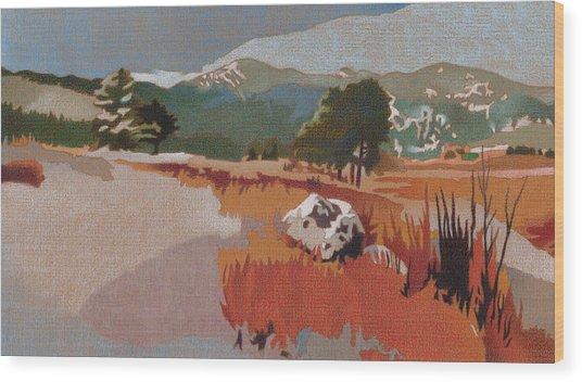 Bergen Peak First Snow Wood Print
