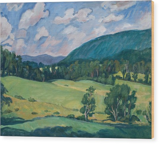 Berkshires Summer Wood Print