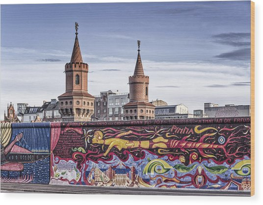 Wood Print featuring the photograph Berlin Wall by Juergen Held