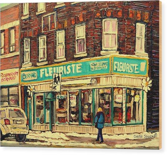 Bernard Florist Wood Print