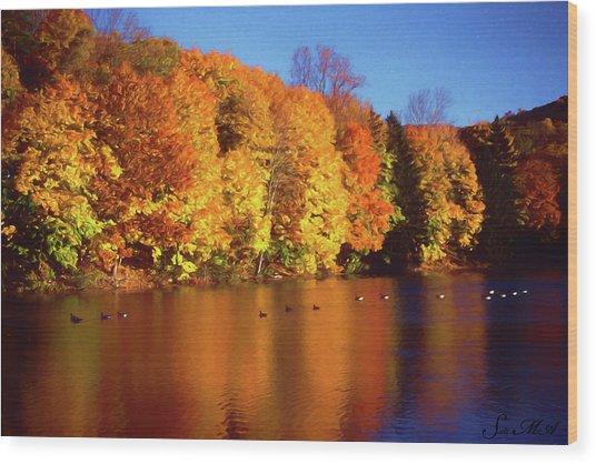 Bernharts Dam Fall 008 Wood Print