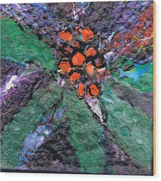Berries Bursting Bright Wood Print by Anne-Elizabeth Whiteway