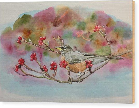 Berry Abundant II Wood Print