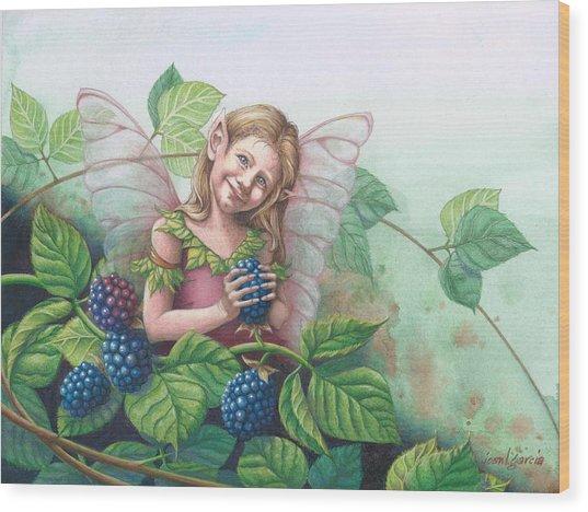 Blackberry Fairie Wood Print