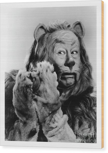 Cowardly Lion In The Wizard Of Oz Wood Print
